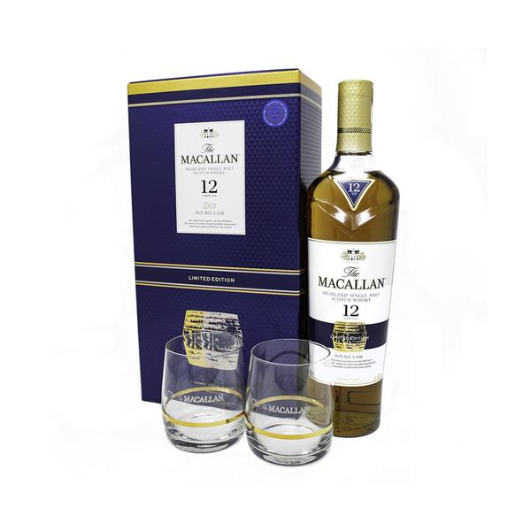MACALLAN 12 YEARS OLD DOUBLE CASK + 2 GLASSES