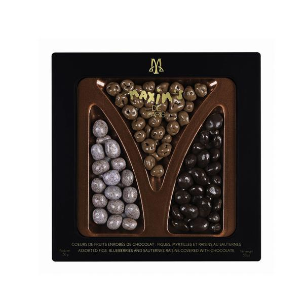 MAX 9119 - TIN OF ASSORTED CHOCOLATE COVERED FRUITS