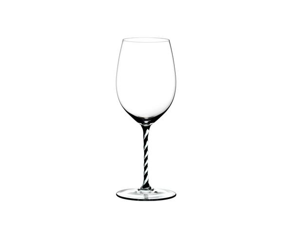 RIEDEL GLASS FATTO A MANO CABERNET BLACK/WHITE TWIST (4900/0BWT)