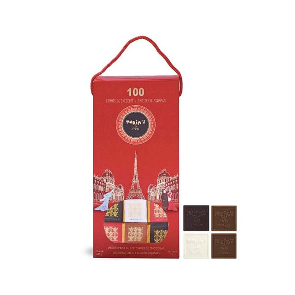 MAX 3988 - GIFT PACK WITH 100 ASSORTED CHOCOLATE SQUARES