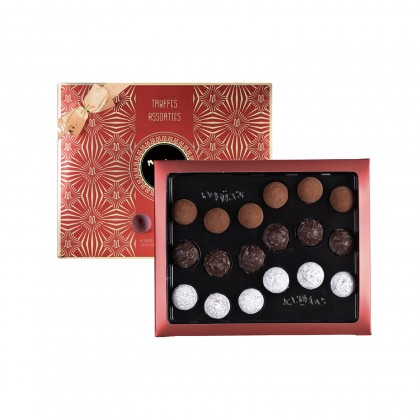 MAX 9027 - CARDBOX OF 18 ASSORTED TRUFFLES