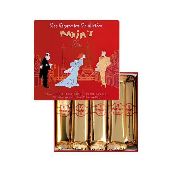 MAX 2202 - CIGARETTES FEUILLETEES FOURREES CHOCOLAT NOISETTES